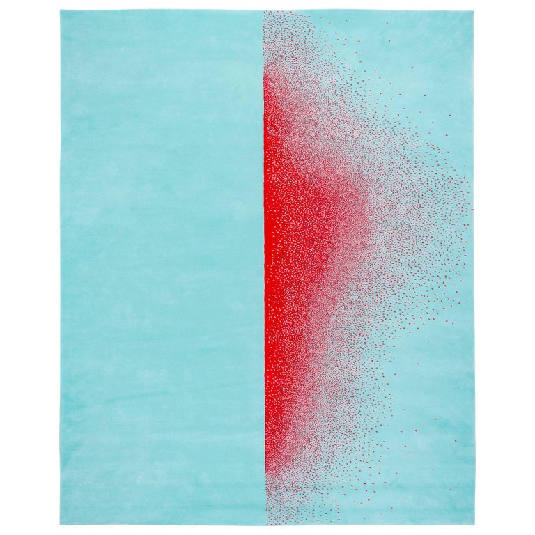 """Contemporary Rug in Wool """"Ascend"""" by Joe Doucet For Sale"""