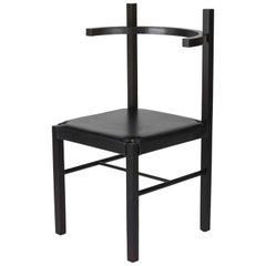 Soren Chair in Ebony Ash and Black Leather