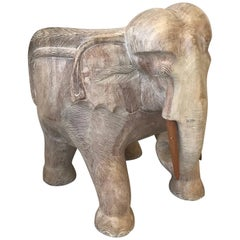 1970s Italian Wood Elephant Sculptural Chair
