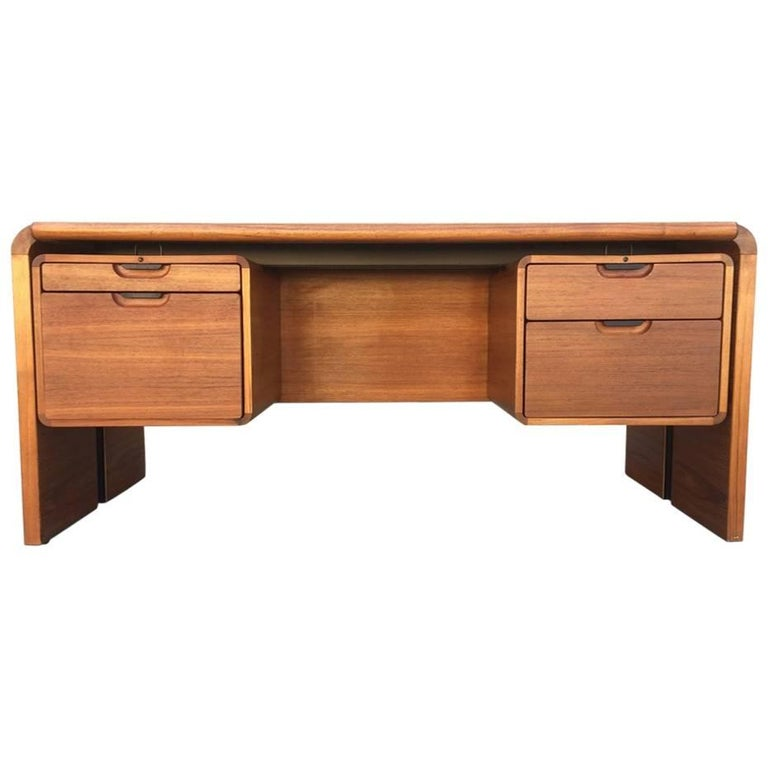 Midcentury Teak Desk For Sale