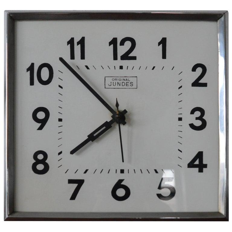Midcentury Wall Clock Jundes Original, 1960s