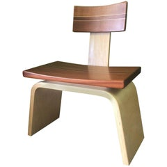 Custom Exotic and Hardwood Game Chair by David Levy