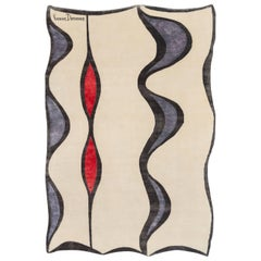 "Wool and Silk Rug ""Jabin"" by Yvonne Domenge, Limited Edition"