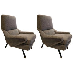 Pair of 1950s Armchairs, attributed to Gigi Radice