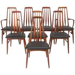 Set of Eight Eva Dining Chairs by Niels Koefoed for Koefoeds Mobelfabrik