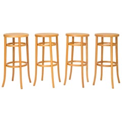 Set of Four 1980s Thonet Bentwood Bar Stools
