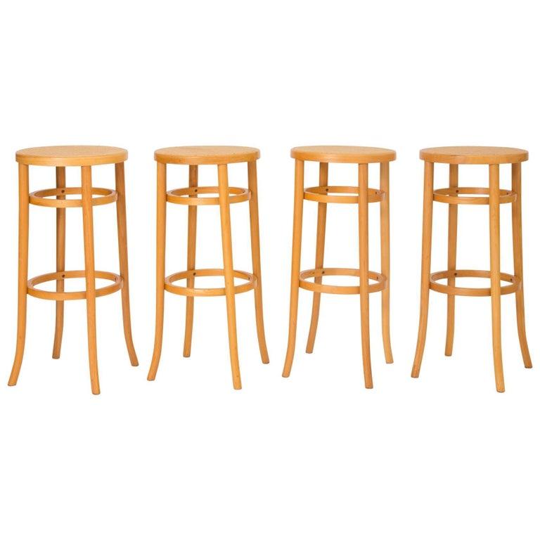 Set of Four Thonet Bentwood Bar Stools