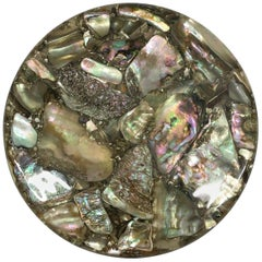 Vintage Abalone Shell Trivet
