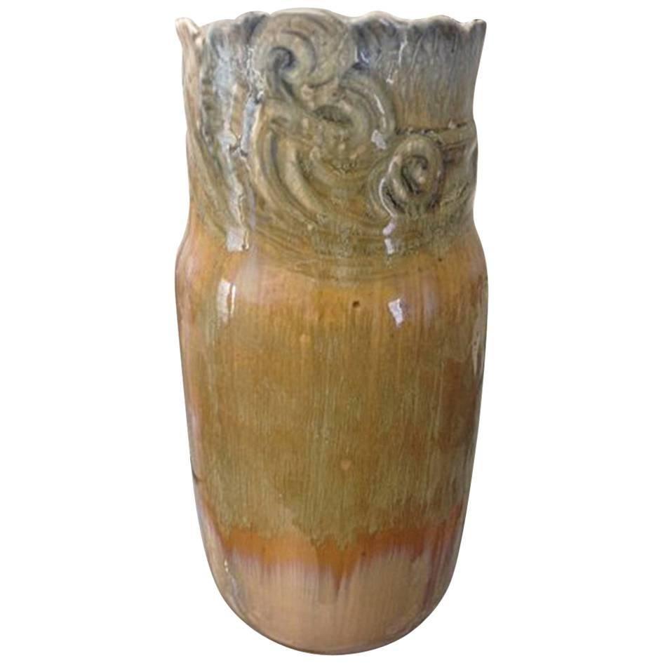 Royal Copenhagen Crystalline Vase by Valdemar Engelhardt & Svend Hammershoej