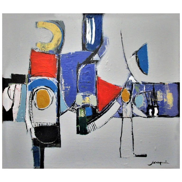 Abstract Painting Titled Havoc on Board by Kenneth Joaquin