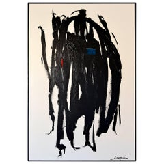 Abstract Painting Titled Jammiin in Black by Artist Kenneth Joaquin