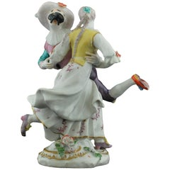 Figure, Harlequine and Columbine, Commedia Dell'arte, Chelsea, circa 1756