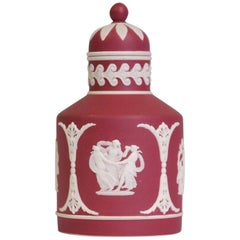 Tea Canister, Crimson Jasper, Wedgwood, circa 1920