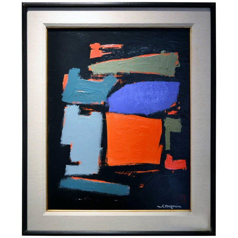 Abstract Painting Titled Out of the Dark by Artist Kenneth Joaquin