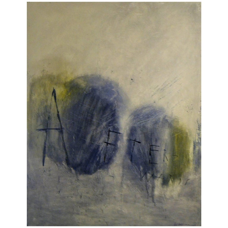Abstract Painting Titled Afterwards by Artist Brian Hagiwara