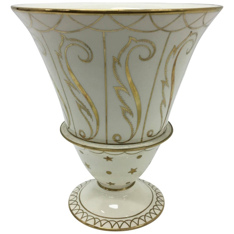 Art Deco Porcelain Vase by Guido Andlovitz for Lavenia