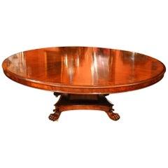 Vintage Regency Dining Table Round Mahogany