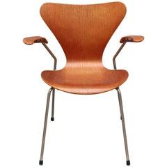 Rosewood Arne Jacobsen Series 7 Armchair, circa 1960s