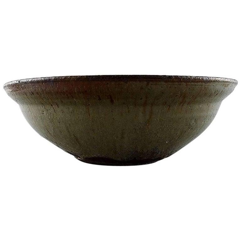 Gutte Eriksen, Own Workshop, Large Ceramic Bowl, Denmark, Mid-20th Century
