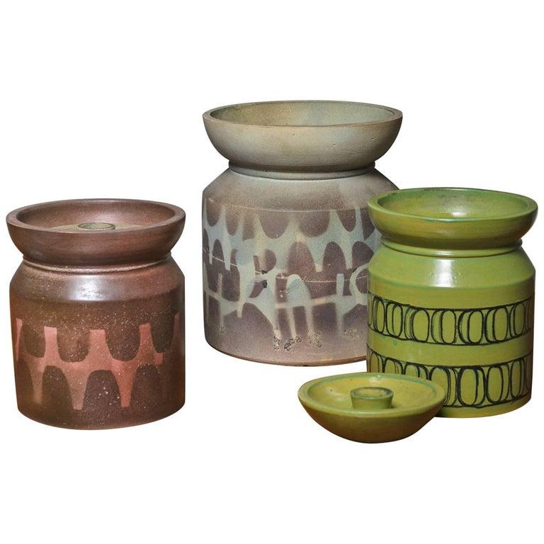 Set of Three Italian 1960s Ceramic Vases
