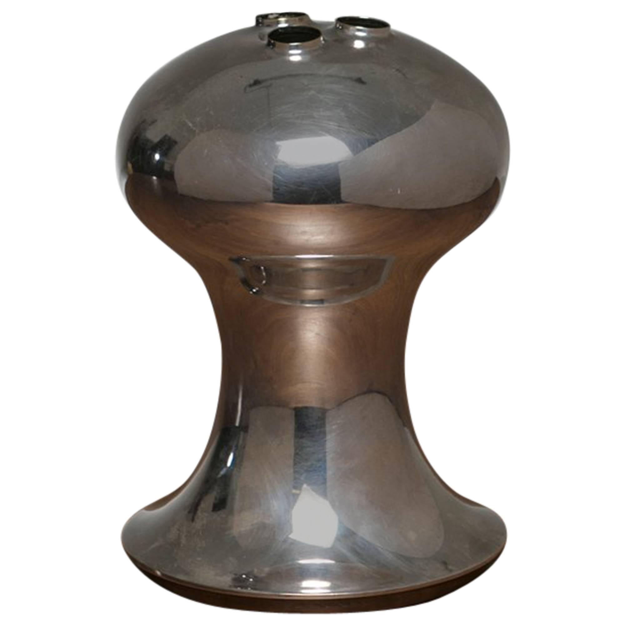 Silver Plated Vase by Lino Sabattini