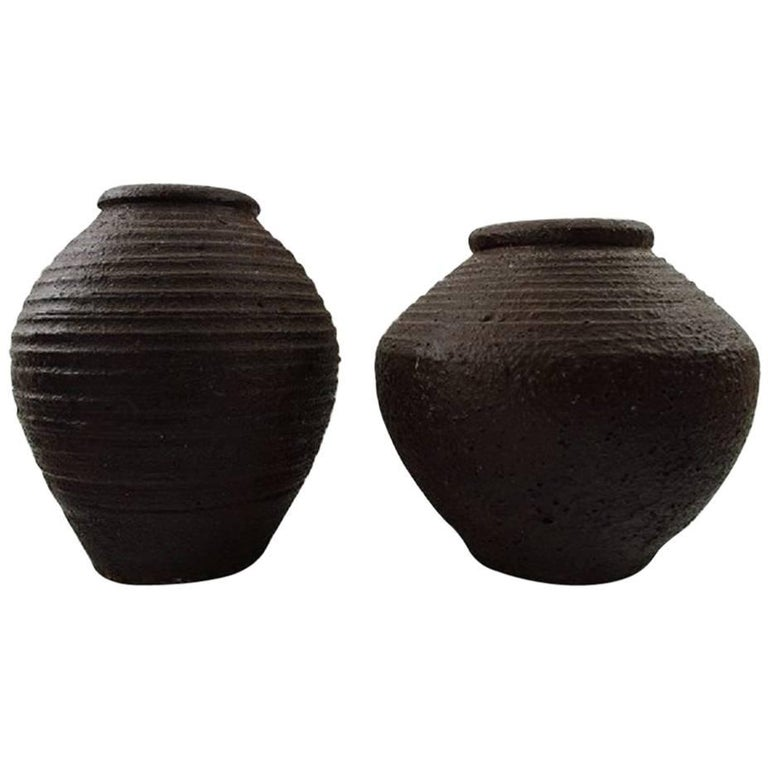 Danish ceramist, Two Ceramic Vases For Sale