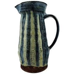 Danish ceramist, Unique Pottery Jug, Denmark Mid-20 Century