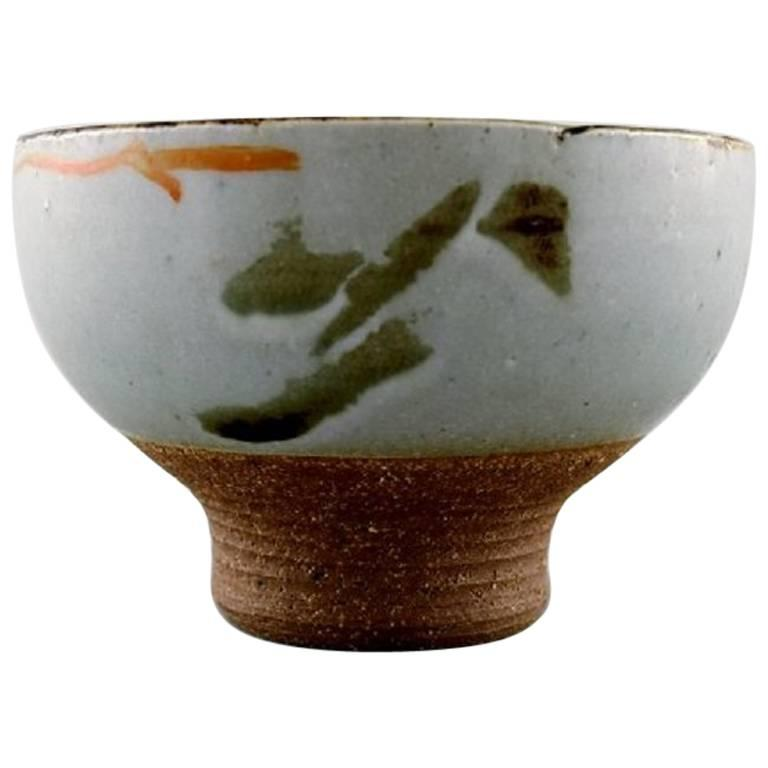 Danish Ceramist, Unique Ceramic Bowl, 1960s-1970s
