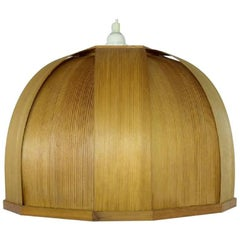 "Hans-Agne Jakobsson, ""Ellysett"" Ceiling Lamp of Wood, 1960s-1970s"