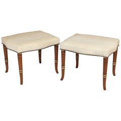 Pair of Early 19th Century Continental Stools
