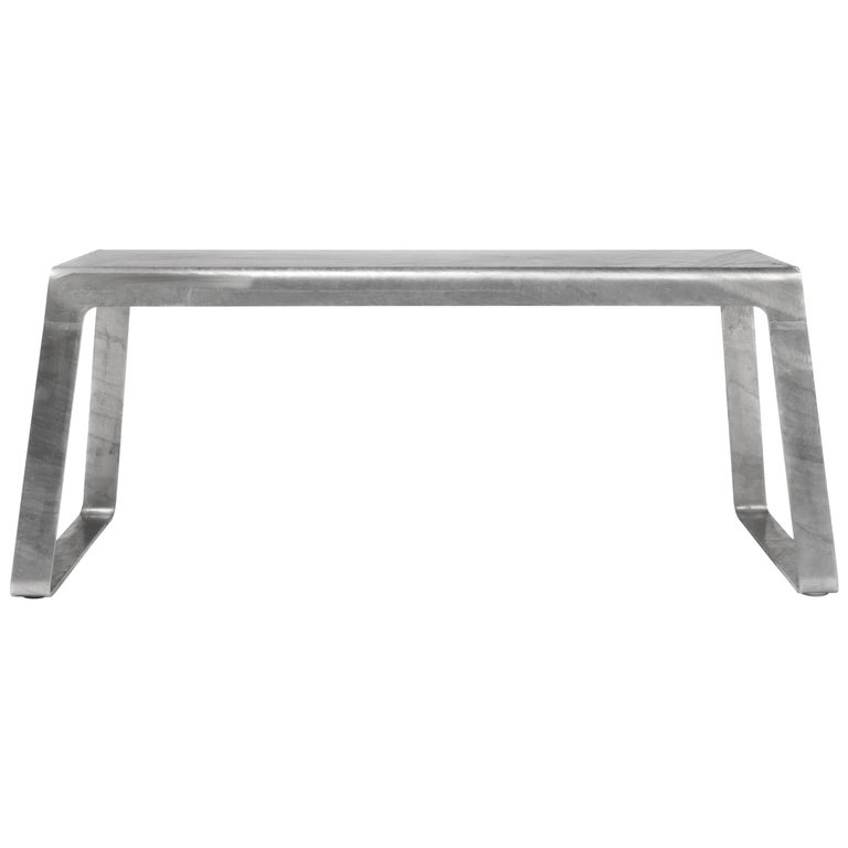 A_Bench in Hot-Dipped Galvanized Steel Plate by Jonathan Nesci