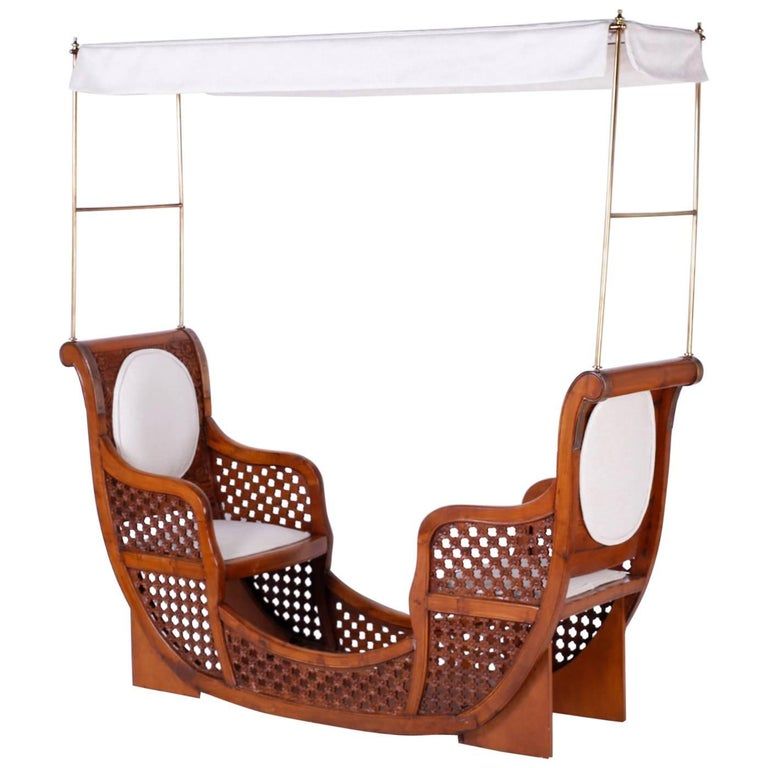 Anglo-Indian Elephant Seat Tête à Tête