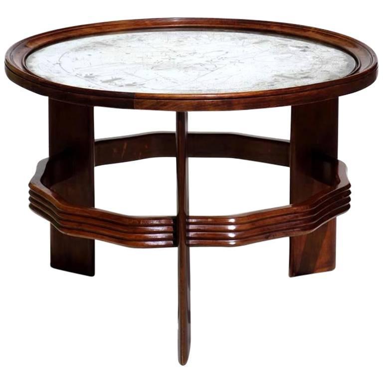 1930s by Vittorio Valabrega Italian Design Art Deco Coffee Table For Sale