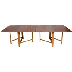 "Bruno Mathsson ""Maria"" Danish Modern Folding Dining Table"