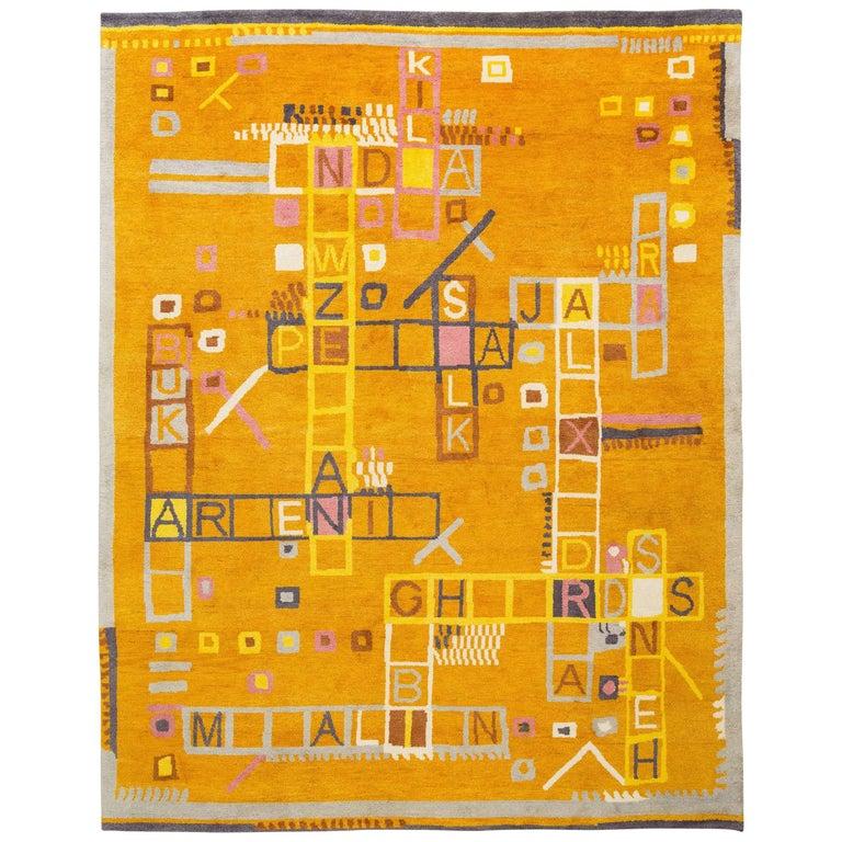 "Gabbeh Knot Rug ""Silk Road"" by Johanna Boccardo, Limited Edition For Sale"