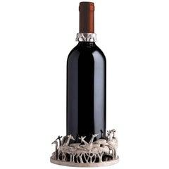 Giraffe Sterling Silver Wine Coaster