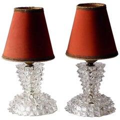 """""""Rostrato"""" by Ercole Barovier Murano Glass Art Deco Table Lamps"""