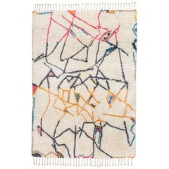 "Moroccan Berber Rug Limited Edition ""Positions"" by Johanna Boccardo"
