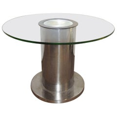 Modernist Steel Gueridon table, 1930s by G. Djo-Bourgeois, France
