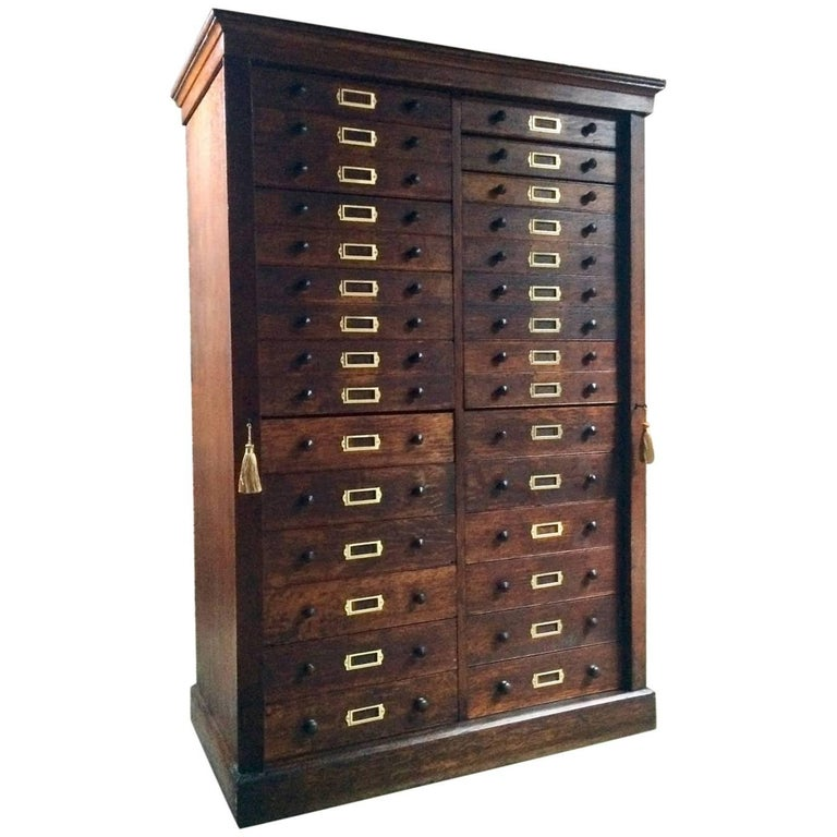 Haberdashery Chest of Drawers Museum Cabinet Industrial Loft Style, 1890