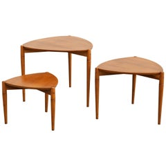 Stunning Set of Three Side Tables Signed Reguitti