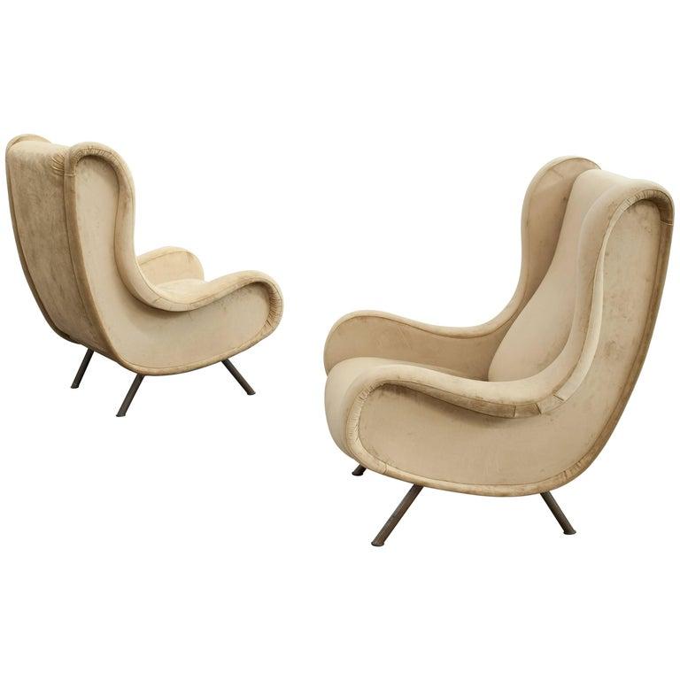 Iconic Senior Armchairs by Marco Zanuso for Arflex