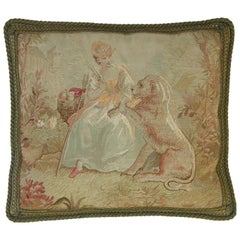 Antique French Aubusson Tapestry, circa 1850 1174p