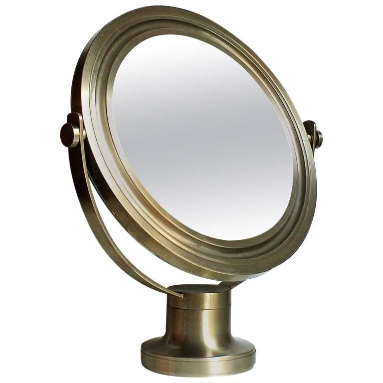 Sergio Mazza by Artemide 1970s Italian Design Table Mirror For Sale
