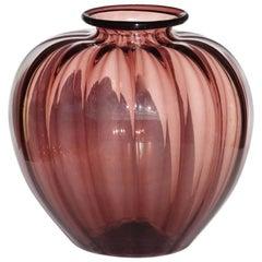 """""""Soffiati"""" Vittorio Zecchin by Cappellin Venini 1920s Murano Glass Vase"""