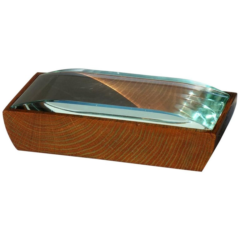 1950s Pietro Chiesa by Fontana Arte Italian Design Crystal Box For Sale
