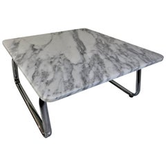 Steelcase Marble and Chrome Coffee Table
