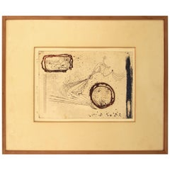 Abstract Japanese Print in Frame