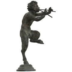 Rare Antique Bronze Sculpture of Pan the Mythological God