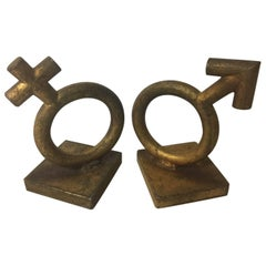 Iconic Midcentury Gender Symbol / Sex Bookends by C. Jere